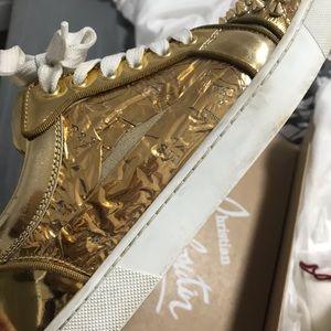 Christian Louboutin Shoes - Size 6.5 Christian Louboutin gold, spike sneakers